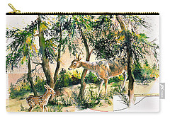 Fawn And Doe Carry-all Pouch