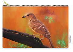 Fawn Breasted Bower Bird Carry-all Pouch by Suzanne Handel