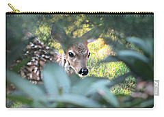 Fawn Peeking Through Bushes Carry-all Pouch