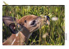 Fawn Smelling The Wildflowers Carry-all Pouch