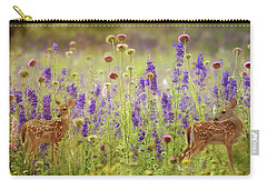 Fawns In The Meadow Carry-all Pouch