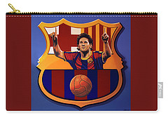 Fc Barcelona Painting Carry-all Pouch by Paul Meijering