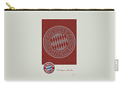 Fc Bayern Munich Logo And 3d Badge Carry-all Pouch