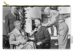 Carry-all Pouch featuring the photograph Fdr Presenting Medal Of Honor To William Wilbur by War Is Hell Store
