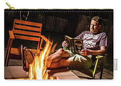 Carry-all Pouch featuring the photograph Fear By Fire by T Brian Jones