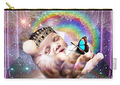 Carry-all Pouch featuring the digital art Fearfully And Wonderfully Created by Dolores Develde