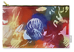 Carry-all Pouch featuring the mixed media Fearless Girl Wall Street by Dan Sproul