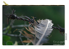 Feather And Barbed Wire Carry-all Pouch