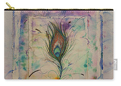 Feather And Butterfly Carry-all Pouch