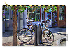 Carry-all Pouch featuring the photograph Feather Bicycle by Craig J Satterlee