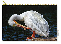 Carry-all Pouch featuring the photograph Feather Check by HH Photography of Florida