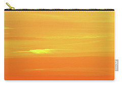 Feather Cloud In An Orange Sky  Carry-all Pouch