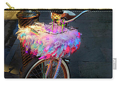 Carry-all Pouch featuring the photograph Feather Jazz Bicycle by Craig J Satterlee