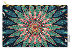 Feather Mandala IIi Carry-all Pouch