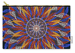 Feather Mandala Iv Carry-all Pouch