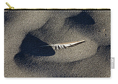 Feather On The Beach Carry-all Pouch