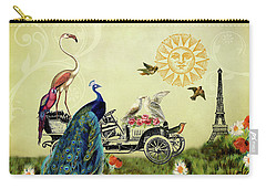 Feathered Friends In Paris, France Carry-all Pouch by Peggy Collins