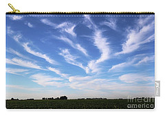 Feathers In Blue Sky Carry-all Pouch by Yumi Johnson