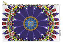 Carry-all Pouch featuring the digital art Feathers In The Round by Mary Machare