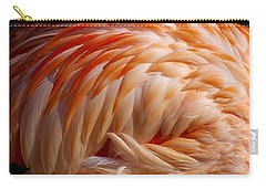 Feathers Of Pink Carry-all Pouch by Liz Masoner