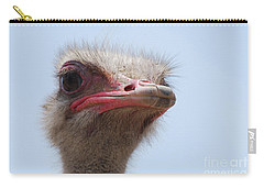 Feathers Standing Around The Head Of An Ostrich Carry-all Pouch
