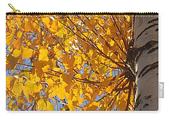 Feathery Fan Of Leaves Carry-all Pouch by Christina Verdgeline