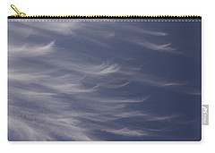 Carry-all Pouch featuring the photograph Feathery Sky by Shari Jardina