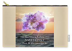 February Birthstone Amethyst Carry-all Pouch