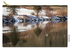 Carry-all Pouch featuring the photograph February Reflections by Karol Livote