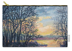Carry-all Pouch featuring the painting February Sky by Kathleen McDermott