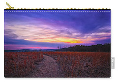 Carry-all Pouch featuring the photograph February Sunset And Path At Retzer Nature Center by Jennifer Rondinelli Reilly - Fine Art Photography