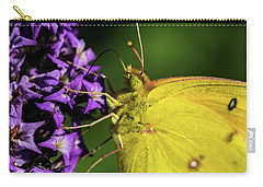 Carry-all Pouch featuring the photograph Feeding Butterfly by Jay Stockhaus