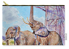 Feeding Elephants Carry-all Pouch