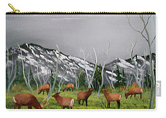 Feeding Elk Carry-all Pouch by Al Johannessen