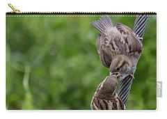 Carry-all Pouch featuring the photograph Feeding Time by Brian Roscorla