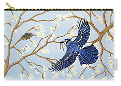 Carry-all Pouch featuring the painting Feeding Time by Teresa Wing