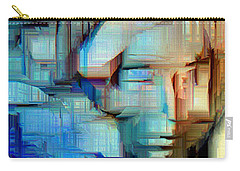 Carry-all Pouch featuring the digital art Feeling Blue by Rafael Salazar