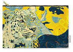 Carry-all Pouch featuring the digital art Feline Looks by Zedi
