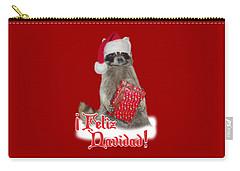 Feliz Navidad - Raccoon Carry-all Pouch by Gravityx9  Designs