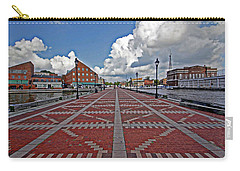 Carry-all Pouch featuring the photograph Fells Point Pier by Suzanne Stout