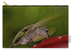 Carry-all Pouch featuring the photograph Female Anna's Hummingbird H40 by Mark Myhaver