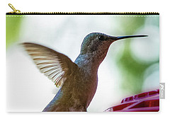 Carry-all Pouch featuring the photograph Female Anna's Hummingbird V24 by Mark Myhaver
