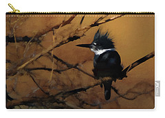 Carry-all Pouch featuring the digital art Female Belted Kingfisher 2 by Ernie Echols