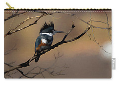 Carry-all Pouch featuring the digital art Female Belted Kingfisher by Ernie Echols