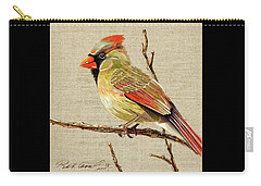 Female Cardinal Carry-all Pouch by Bob Coonts