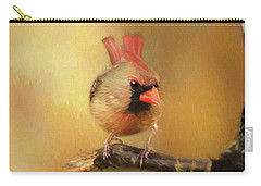 Female Cardinal Excited For Spring Carry-all Pouch
