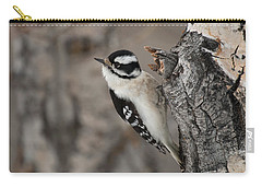 Female Downey Woodpecker Carry-all Pouch