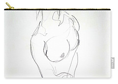 Female Nude Torso Carry-all Pouch