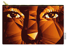 Carry-all Pouch featuring the digital art Female Portrait In Brown by Rafael Salazar