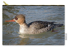 Carry-all Pouch featuring the photograph Female Red-breasted Merganser by Ricky L Jones